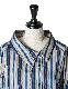 Regimental Stripe Shirt / blue