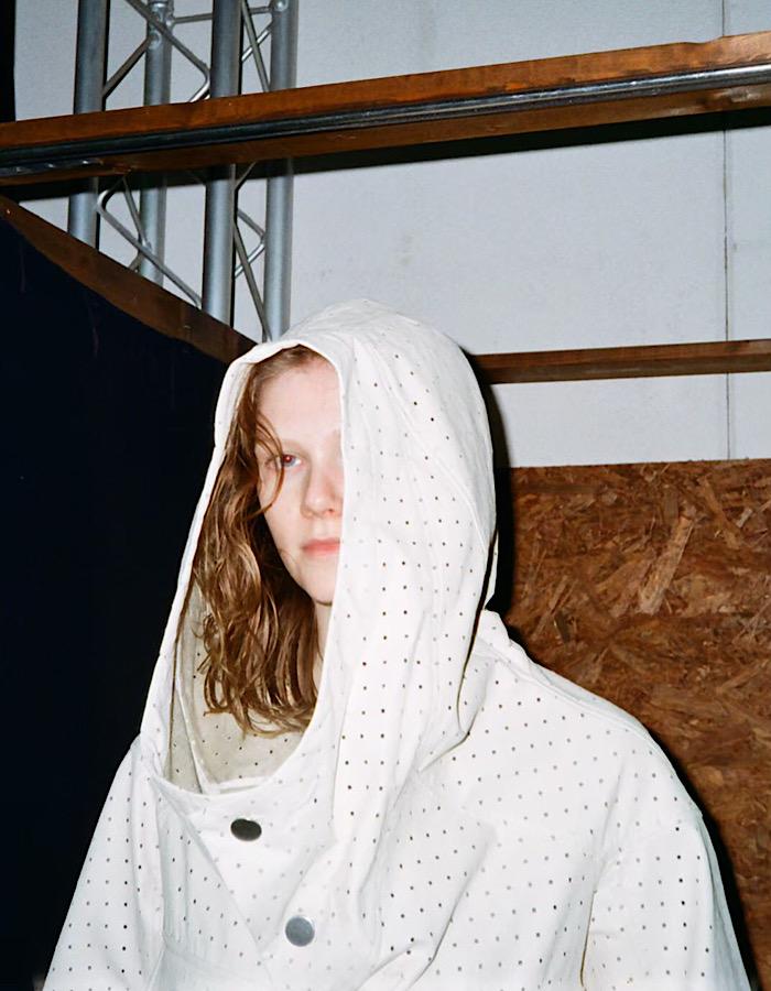 Fake Leather Punching Blouson / off white