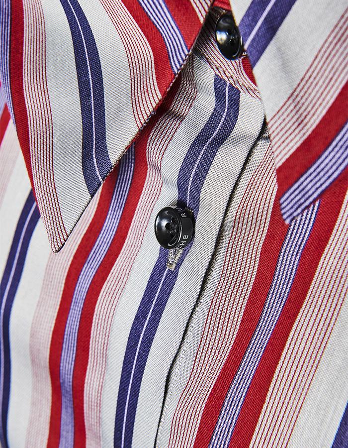 Regimental Stripe Shirt / red