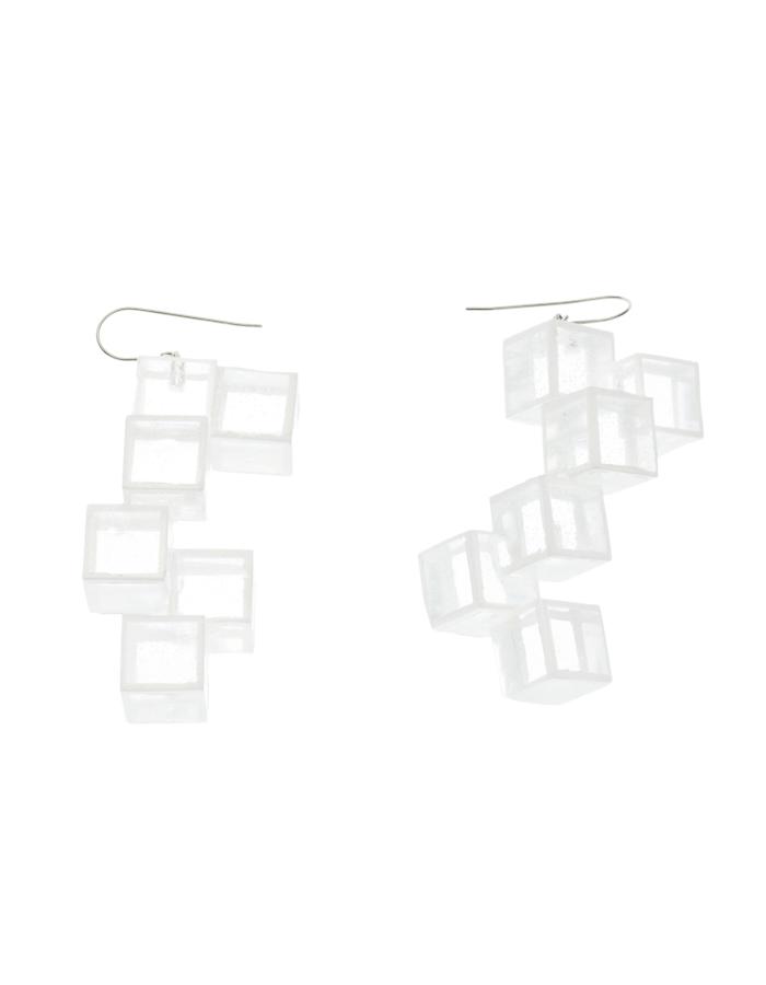 Cubic Pierced Earrings / clear