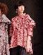 Silk Cotton Stripe Blouse / red
