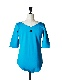 Boat Neck Body Suit / turquoise
