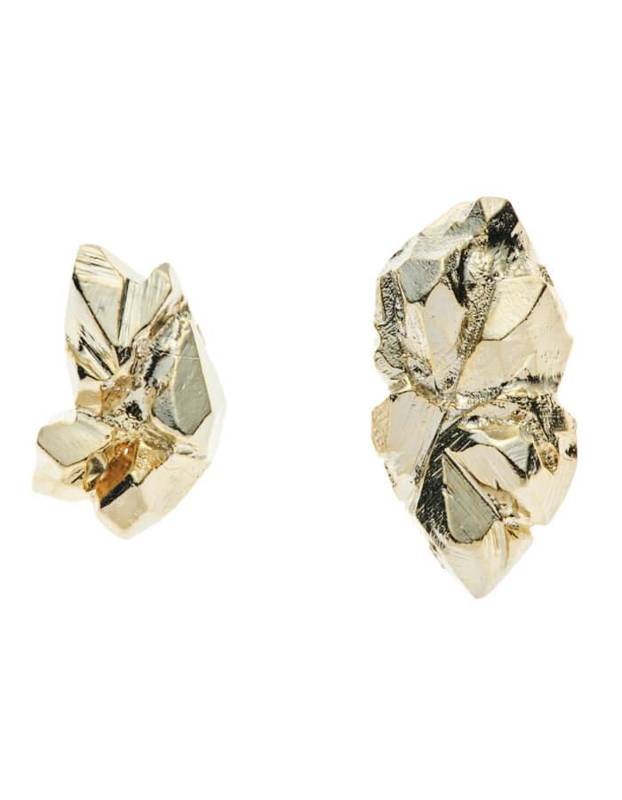 Ore Pierced Earrings / gold