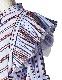 Silk Cotton Stripe Blouse / sax blue