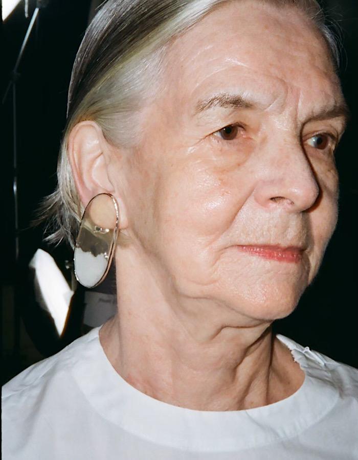 Mirror Pierced Earrings / clear