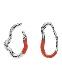 Deformation Pierced Earrings / orange