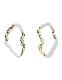 Deformation Pierced Earrings / gold