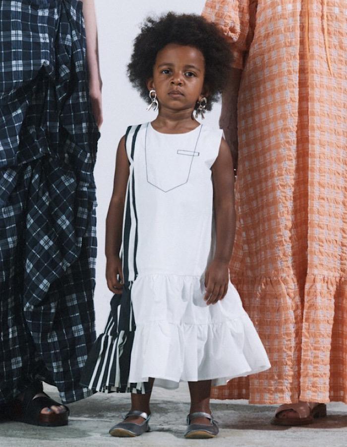 【KIDS】Stitch Tiered Stripe One-piece