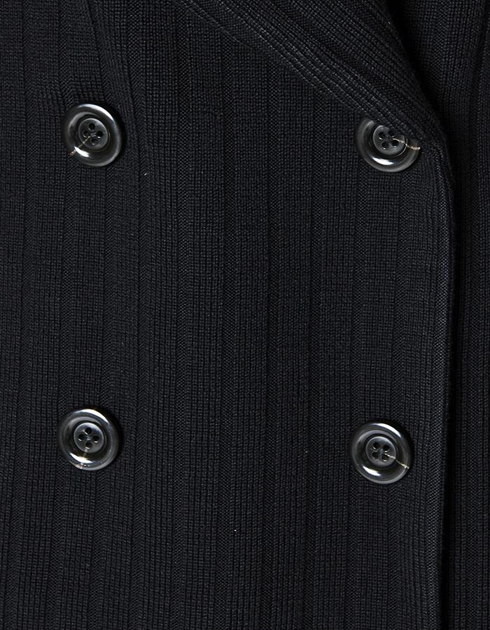 Knit Bonding Coat / black