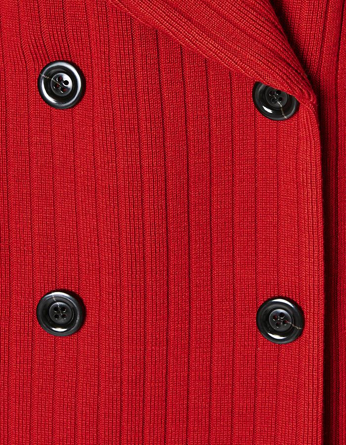 Knit Bonding Coat / red