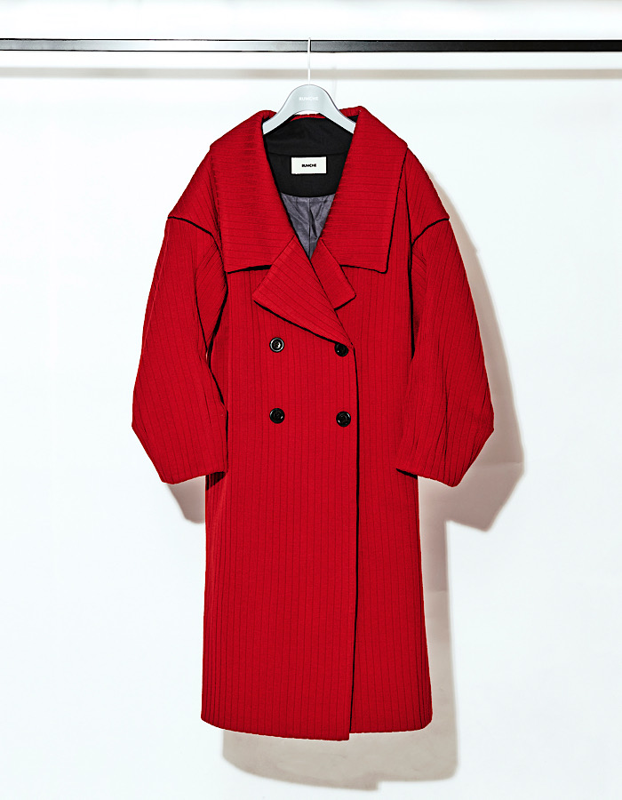 Knit Bonding Coat / red