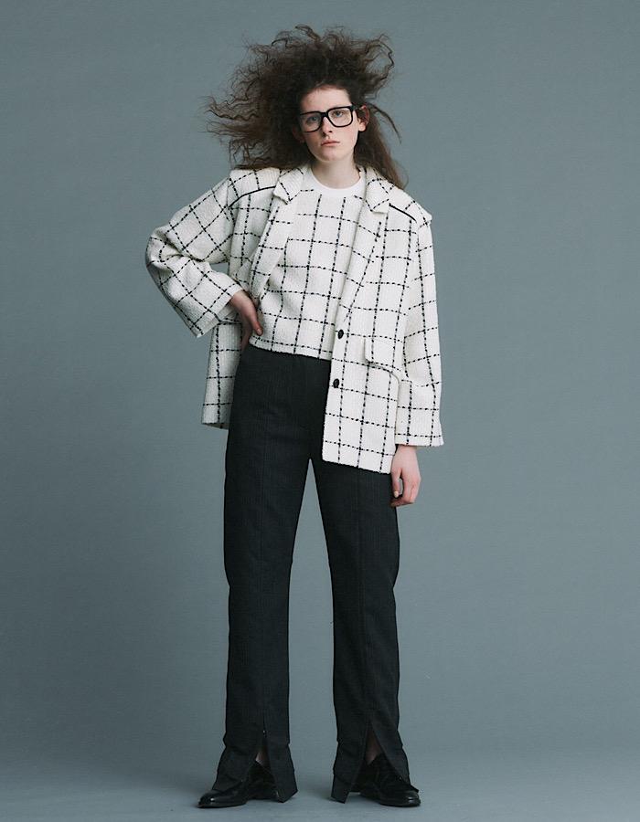 Tweed Tops / white