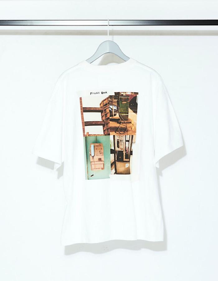 Back Print Photo T-shirt / white
