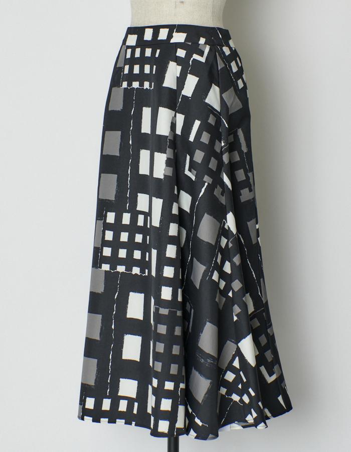 Original Check Print Skirt / check