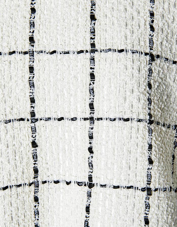 Tweed Overalls / white