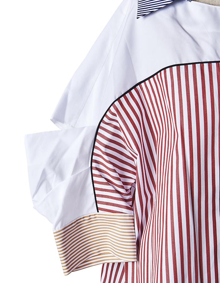 Blocking Big Shirt / red