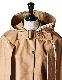 Tweed piping Cape Coat / beige