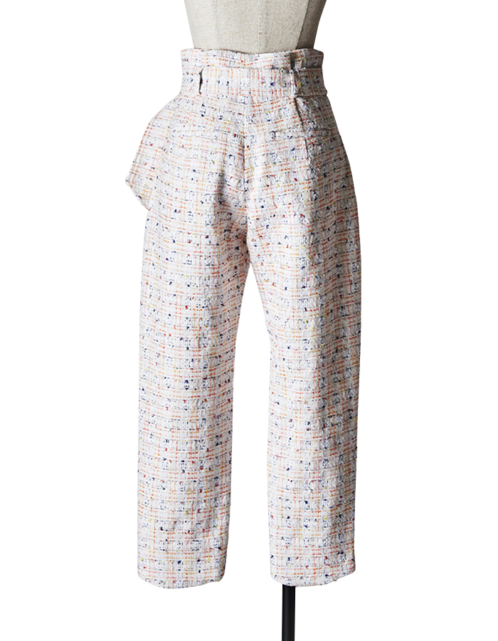 Tweed Pants / white
