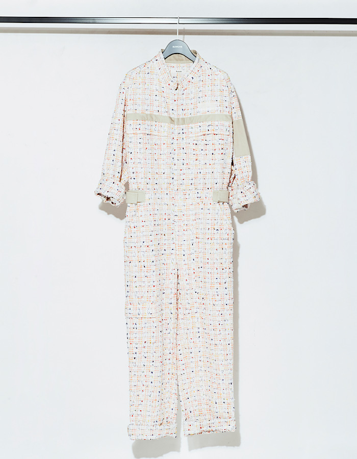Tweed Jumpsuit / white