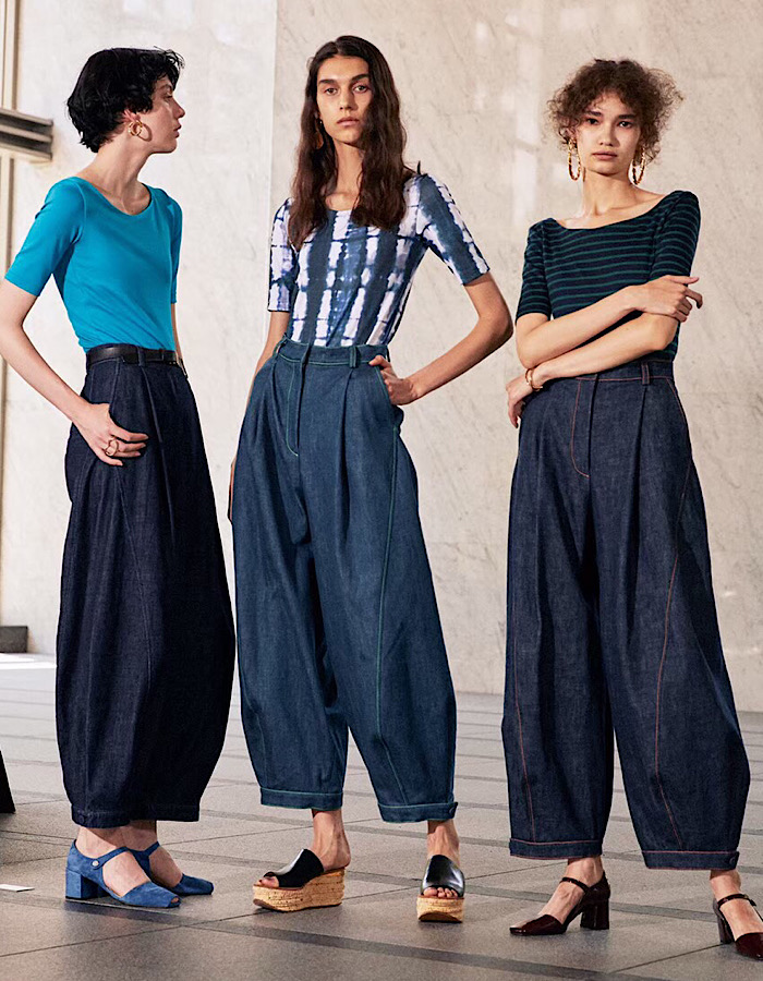 Organic Denim Form Pants / indigo