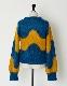 Wave Pattern Mohair Knit / blue