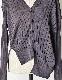 Asymmetry Knit Cardigan / charcoal gray