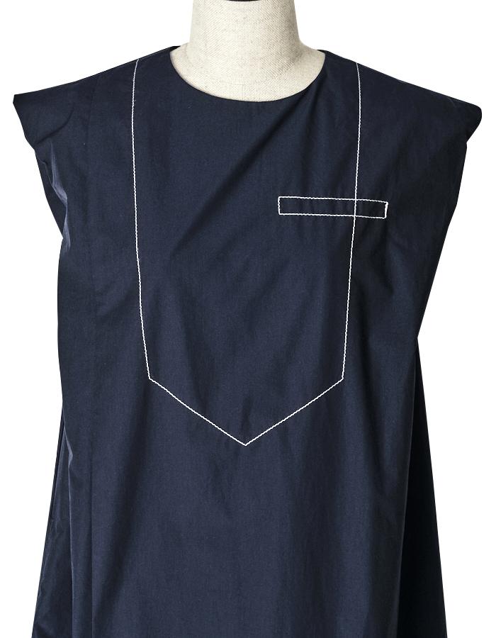 Stitch Tiered One-piece / navy