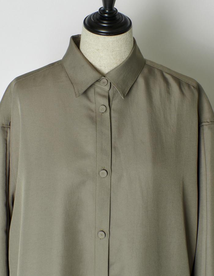 Over Size Shirt Dress / green