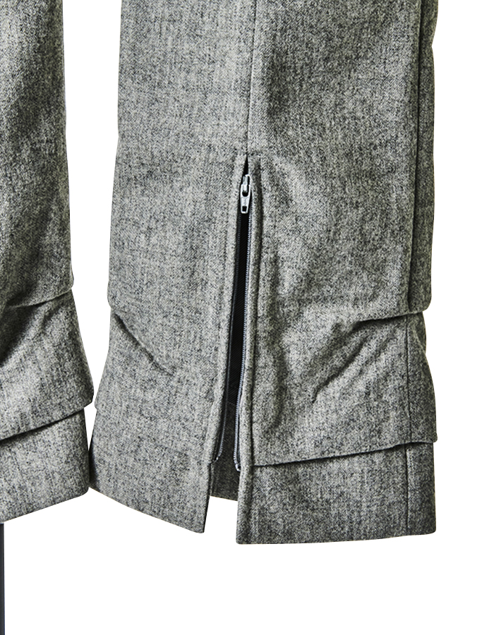 Center Zip Pants / light grey