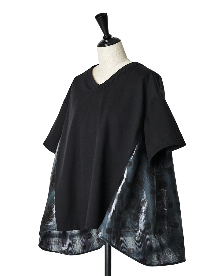 Back Dot Film T-shirt / black