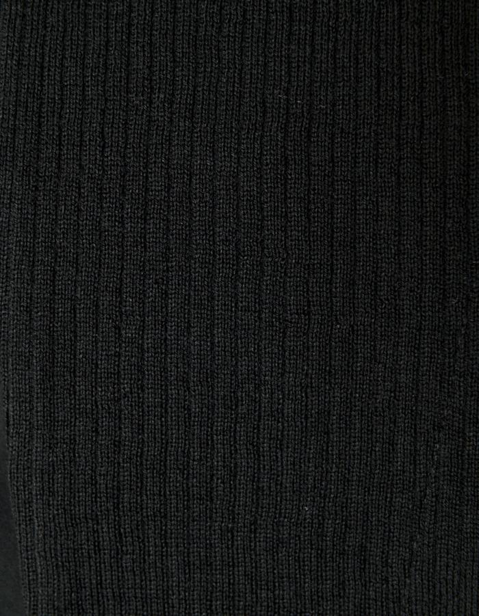 Knit Bonding Shirt / black