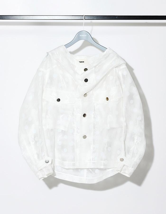 Dot Film Blouson / white