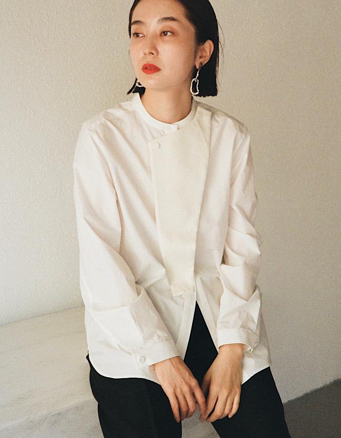 Knit Bonding Shirt / white