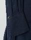 Stand Collar Bonding Shirt Dress / navy