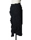 Waffle Asymmetry Skirt / black