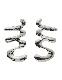 M Letter Pierced Earrings / silver