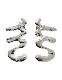 M Letter Earrings / silver