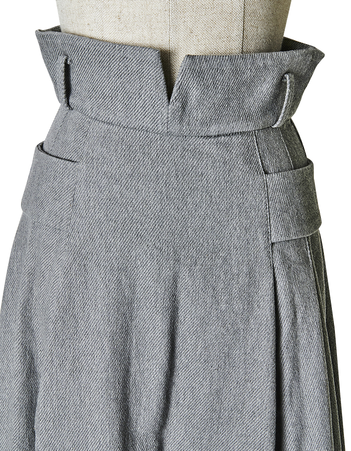 Denim Ballon Skirt / light grey