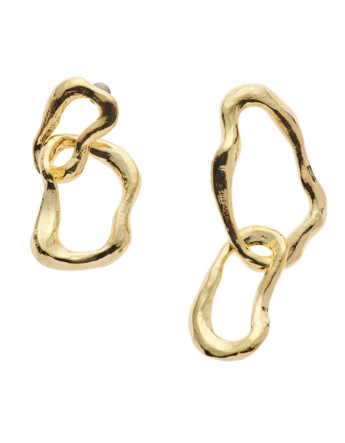 Bumpy Pierced Earrings / gold