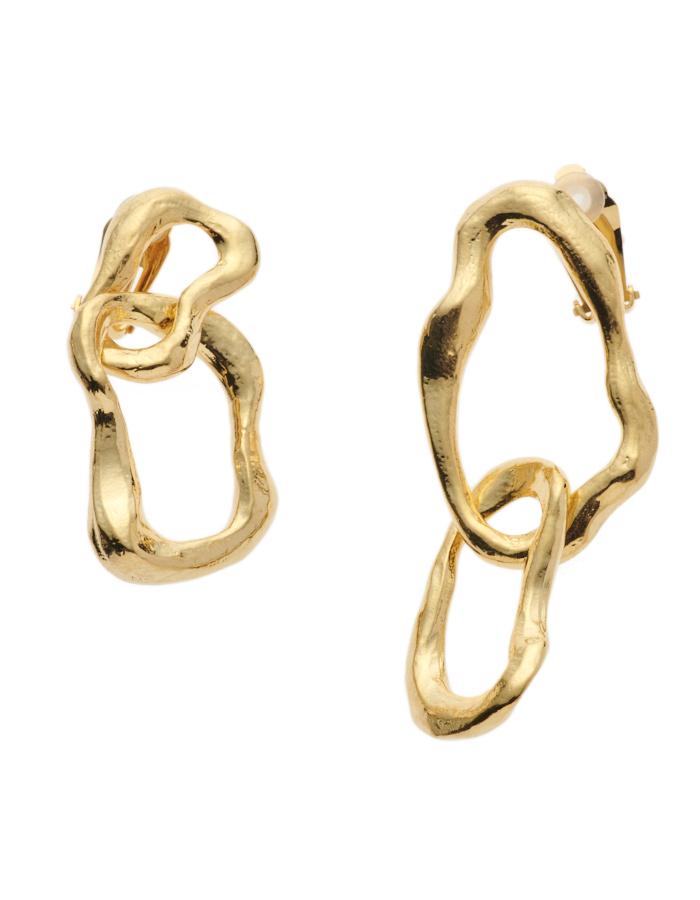 Bumpy Earrings / gold