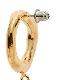 Big Pearl Pierced Earrings / gold