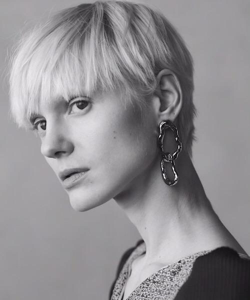 Bumpy Earrings / silver