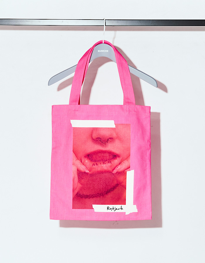 Lip Photo Tote Bag / pink