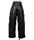 Fake Leather Pants / black