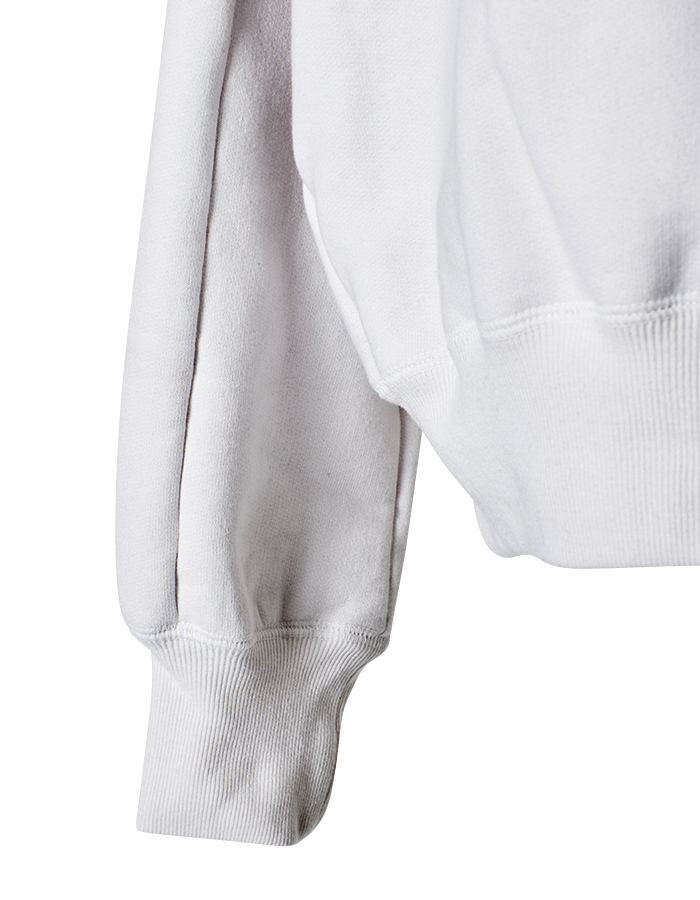 High Neck Sweat Tops / white