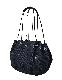 Dot Rubber Parachute Bag / black