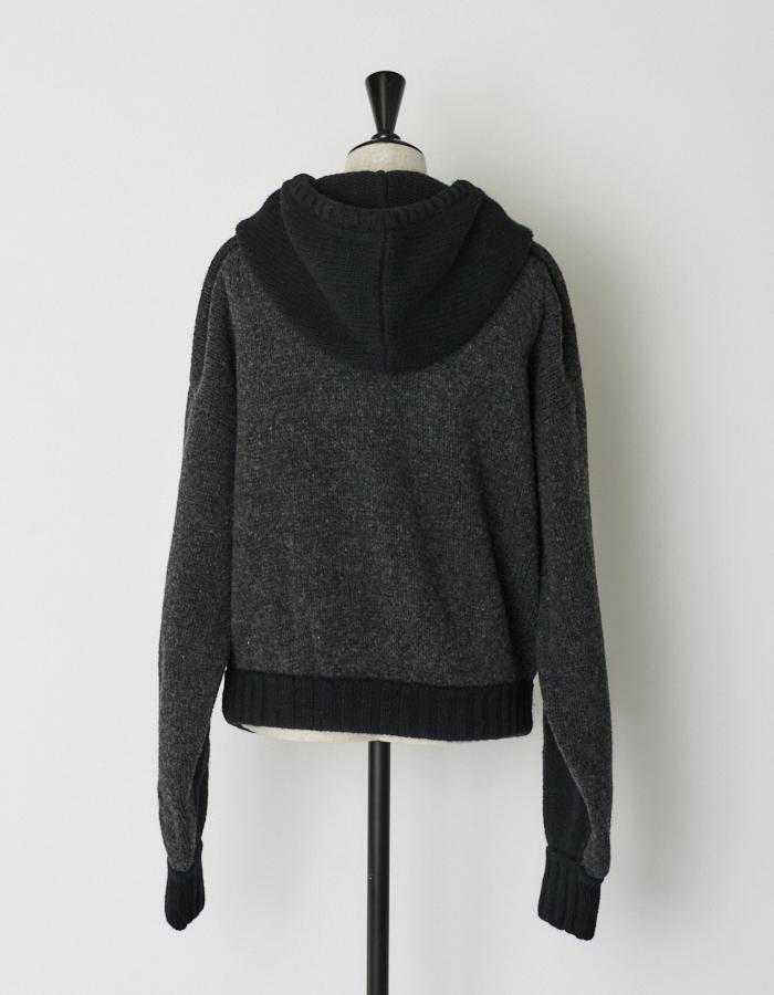 Bi-color Knit Foodie / black