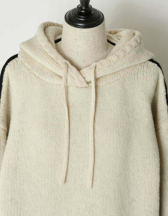 Bi-color Knit Foodie / off-white