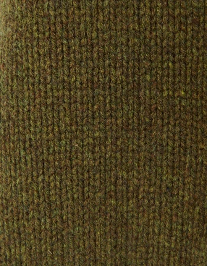 Bi-color Cardigan / khaki