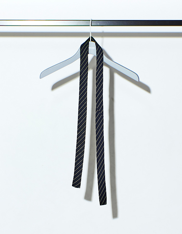 Vintage Remake Tie Choker / navy